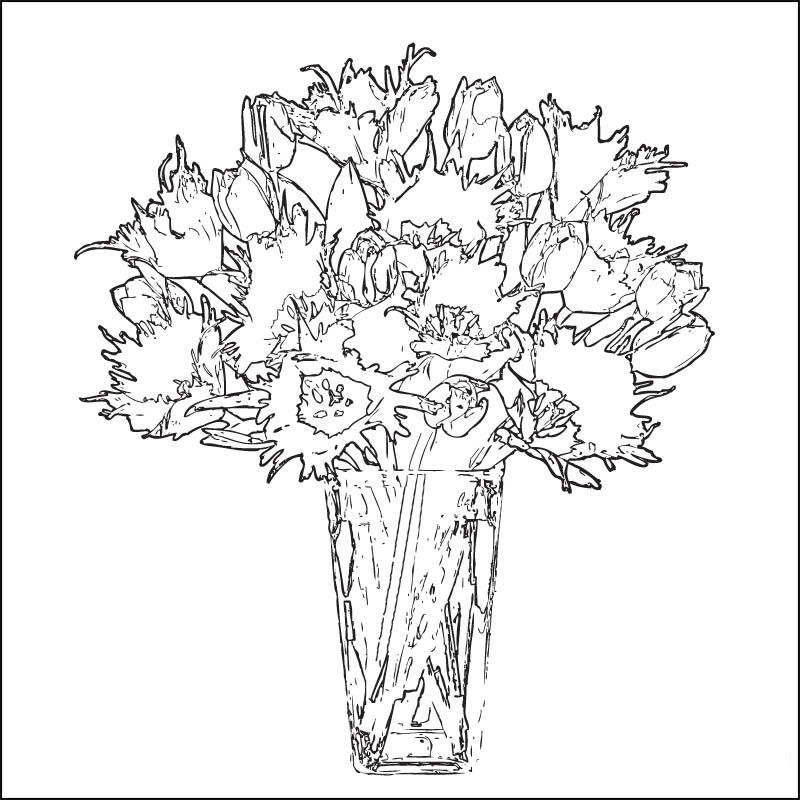 Vase And Flower Template Page 001