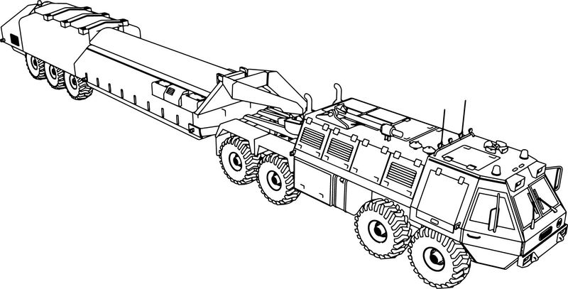 Vhicule Military Truck Coloring Page