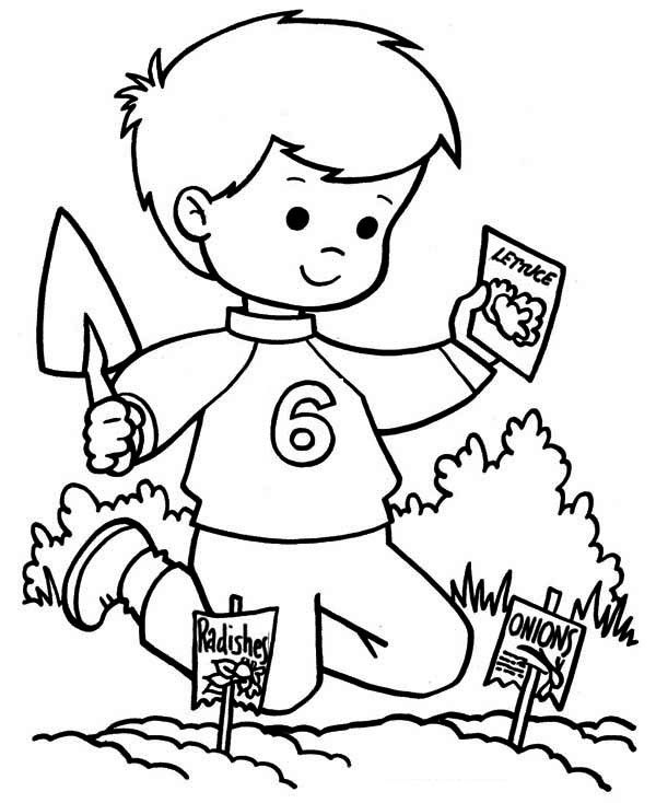 Vegetable Garden Coloring Pages 001