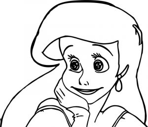 Very cute ariel mermaid coloring page