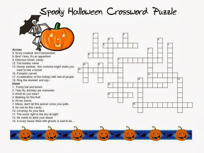 Very Easy Crossword Puzzles Halloween