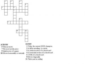 Very small crossword playa