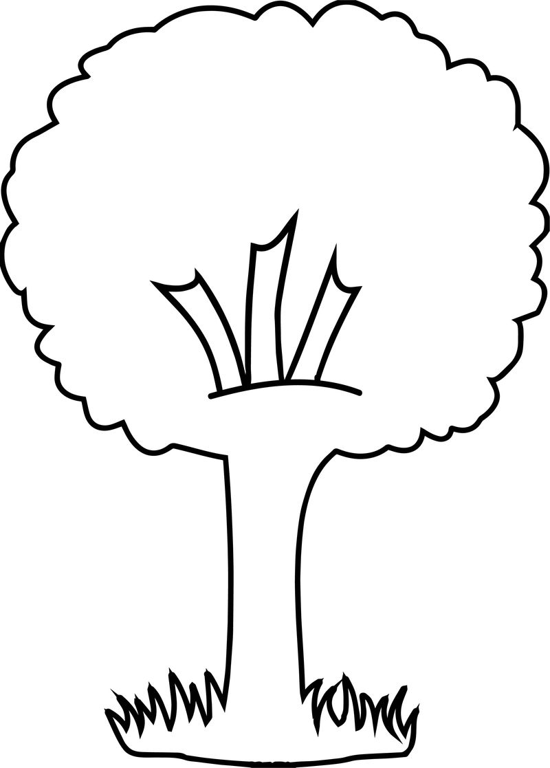 Victorious Apple Tree Coloring Page