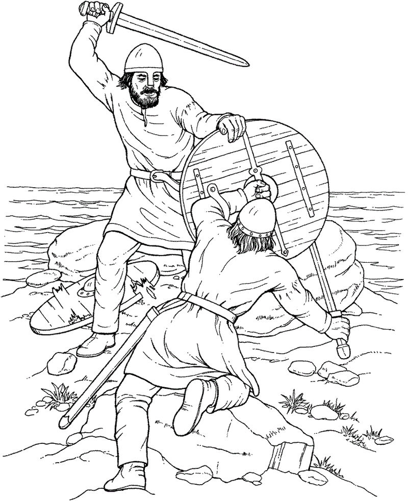 Viking Coloring Pages Activity 001