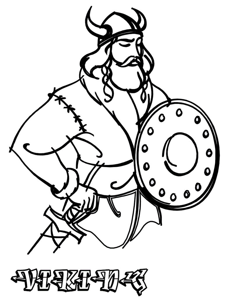 Viking Coloring Pages Easy