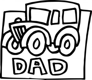 Vintage antique dad coloring page