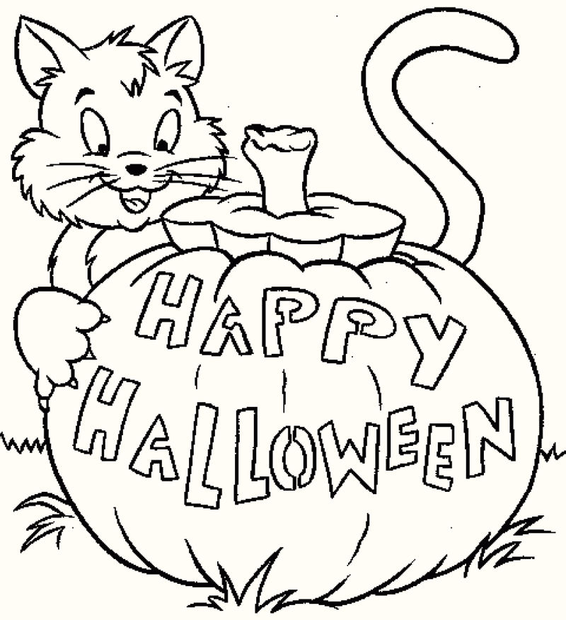 Vintage Artistic Halloween Coloring Pages 1