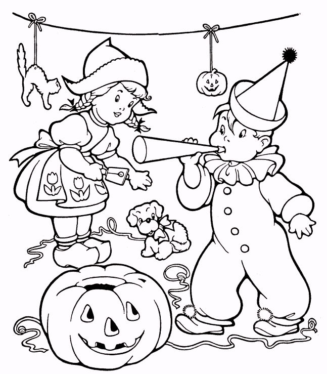 Vintage Halloween Coloring Pages 02