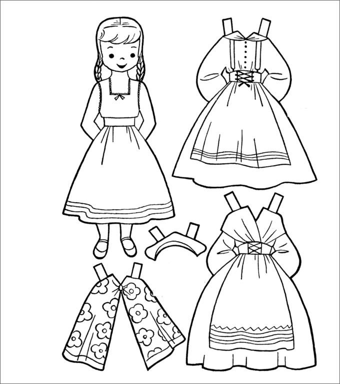 Paper Doll Coloring Pages - Get Coloring Pages   769x680