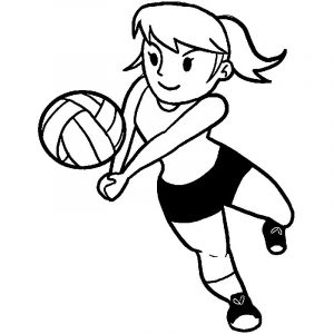 Voleyball girl coloring page