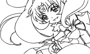 Waiting glitter force girl coloring page
