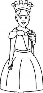 Waiting princess coloring page