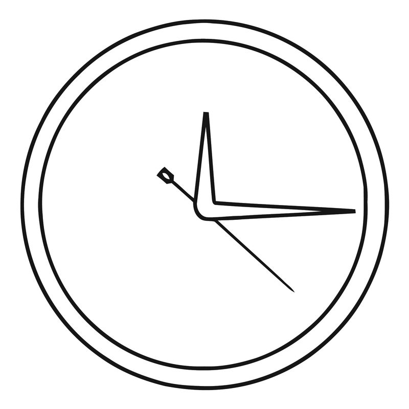 Wall Clock Clip Art 466 Free Printable 64 Cartoonized Free Printable Coloring Page