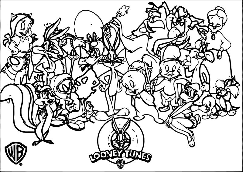 Warner Bros Baby Looney Tunes Characters Coloring Page
