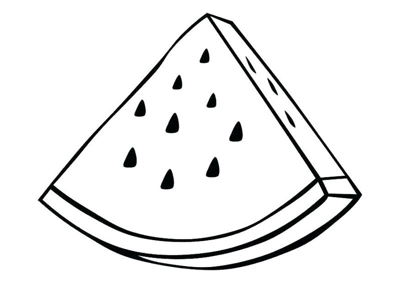 Watermelon Fruit Coloring Page