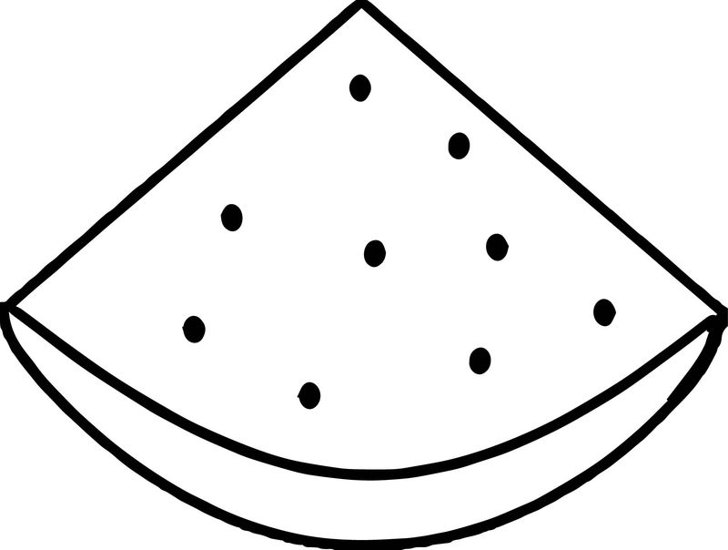 Watermelon Summer Quarter Coloring Page