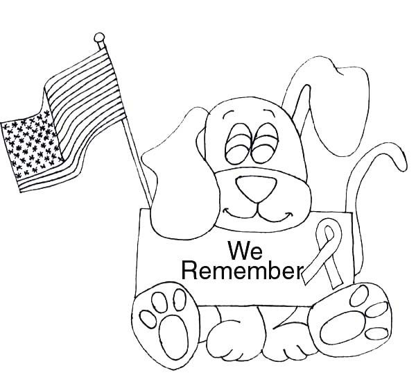 We Remember Patriot Day Coloring Page