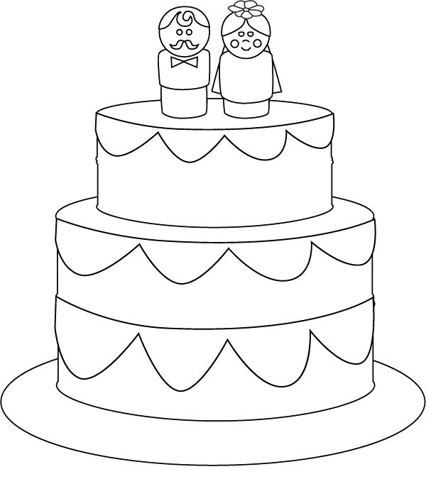 Wedding Cake Coloring Pages 01