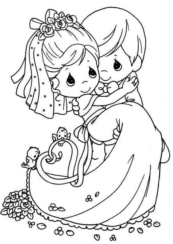 Wedding Couple Coloring Picture