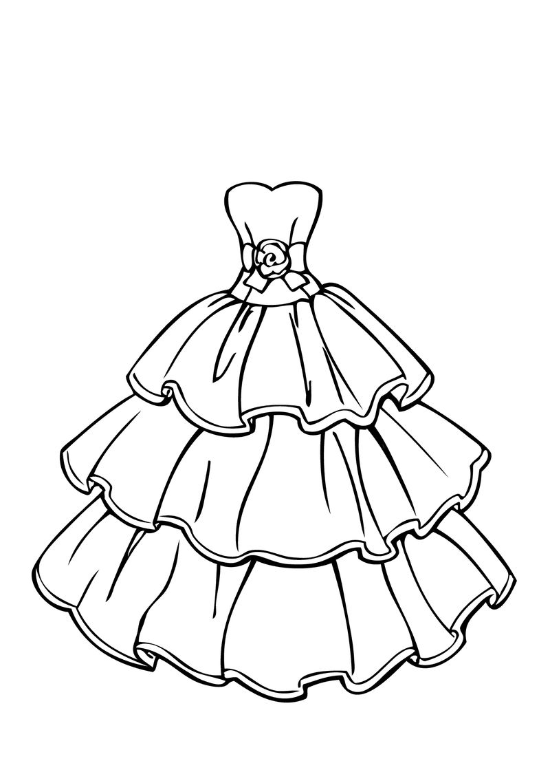 Wedding Dress Coloring Pages 001