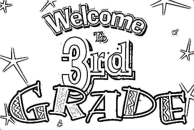 Welcome To 3rd Grade Coloring Page