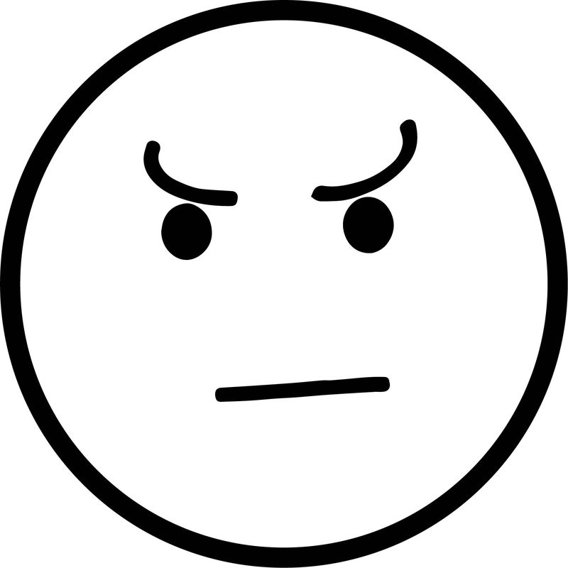 What Angry Face Circle Coloring Page