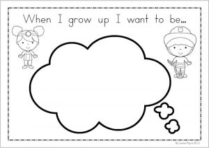 When i grow up worksheet for kindergarten