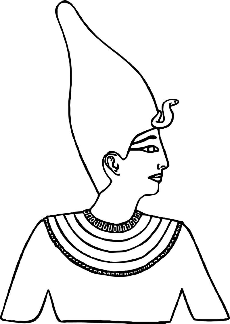 White Crown Face Coloring Page
