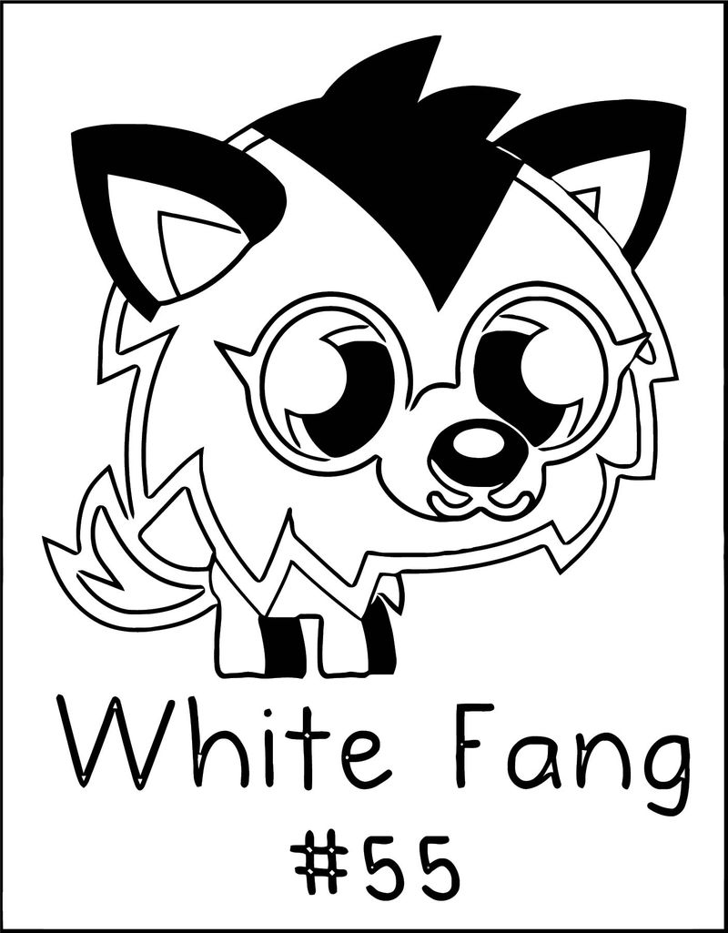 White Fang Moshi Monsters Coloring Page
