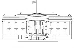White house coloring pages for kids 001