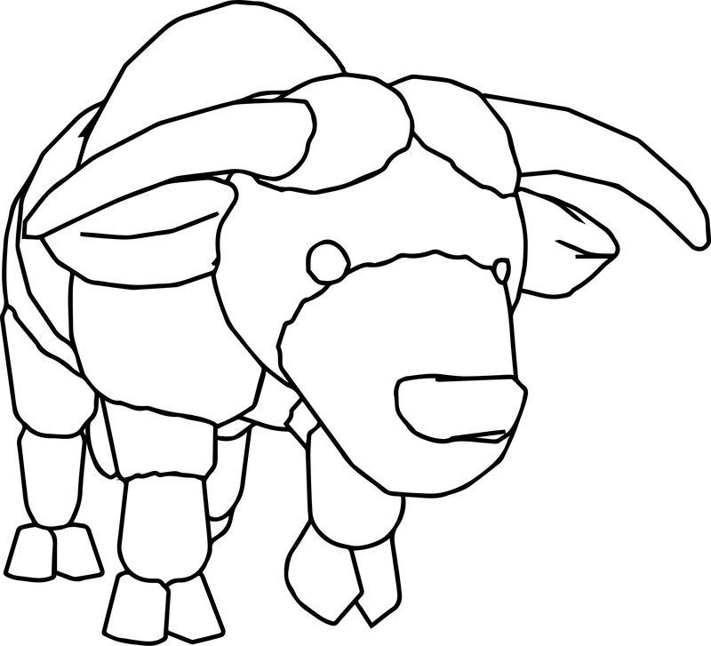 Wild Bull Cartoon Coloring Page