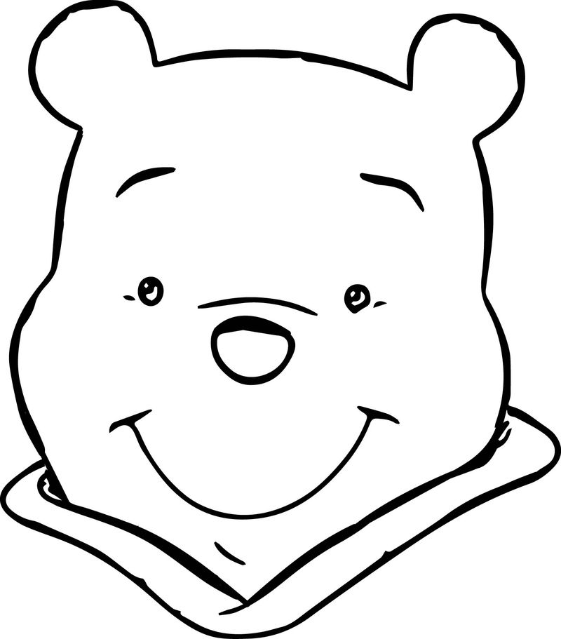 Winnie The Pooh Face Coloring Page