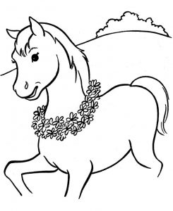 Winning pony coloring page