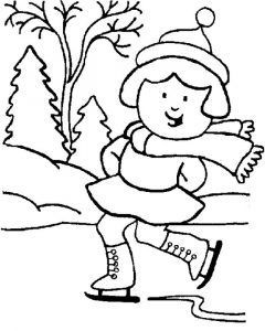 Winter coloring pages girls