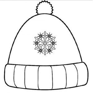 Winter hat coloring sheet