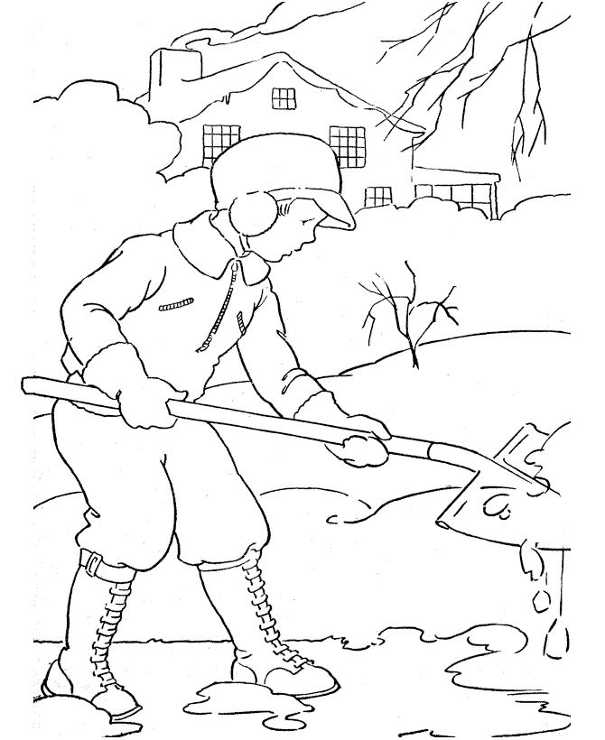 Winter Kids Coloring Pages