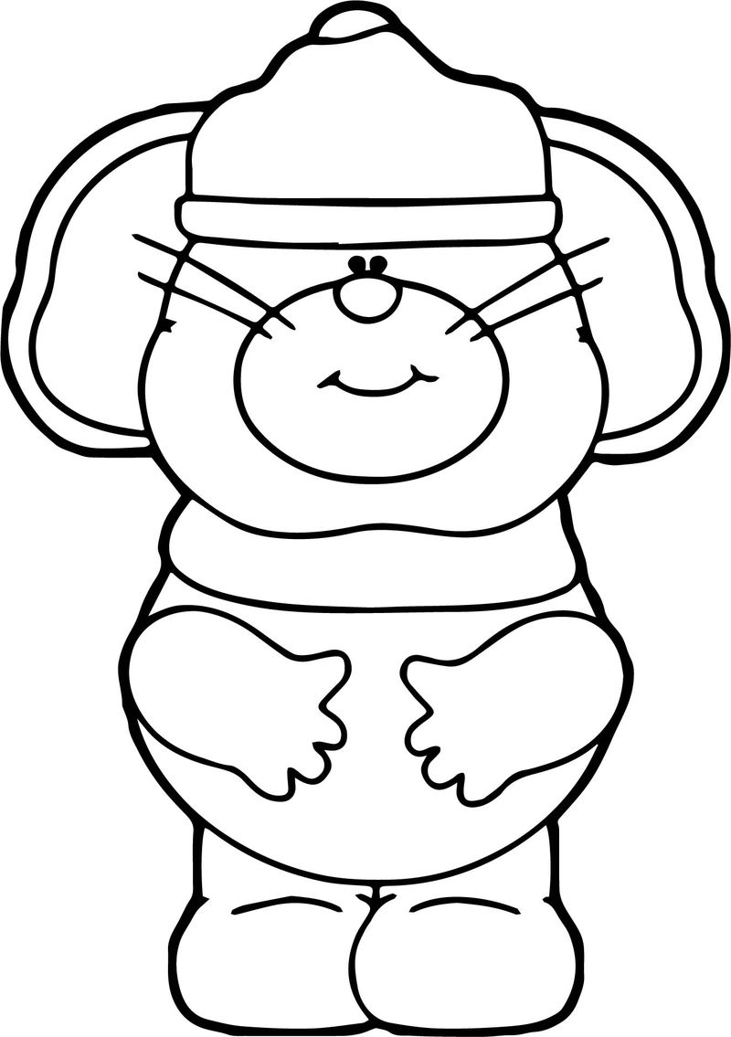 Winter Mouse Coloring Page