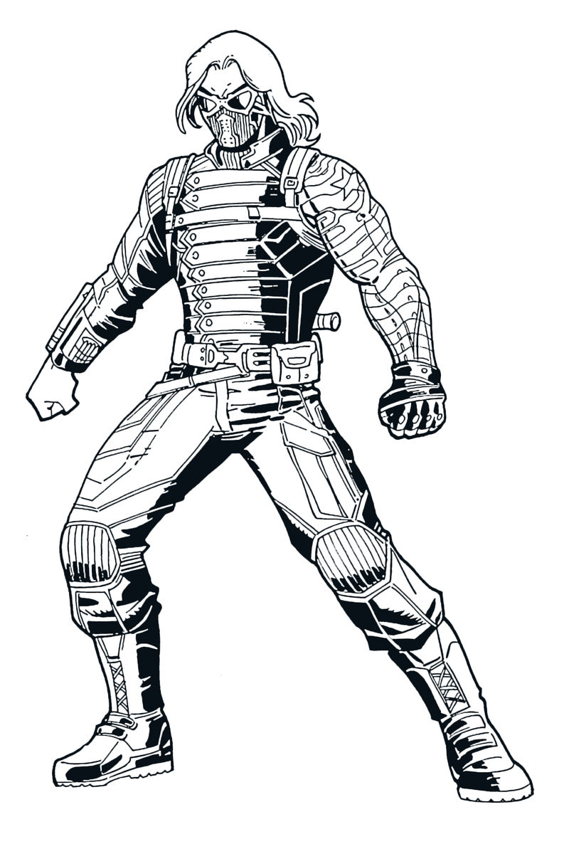Winter Solider Avengers Coloring Pages