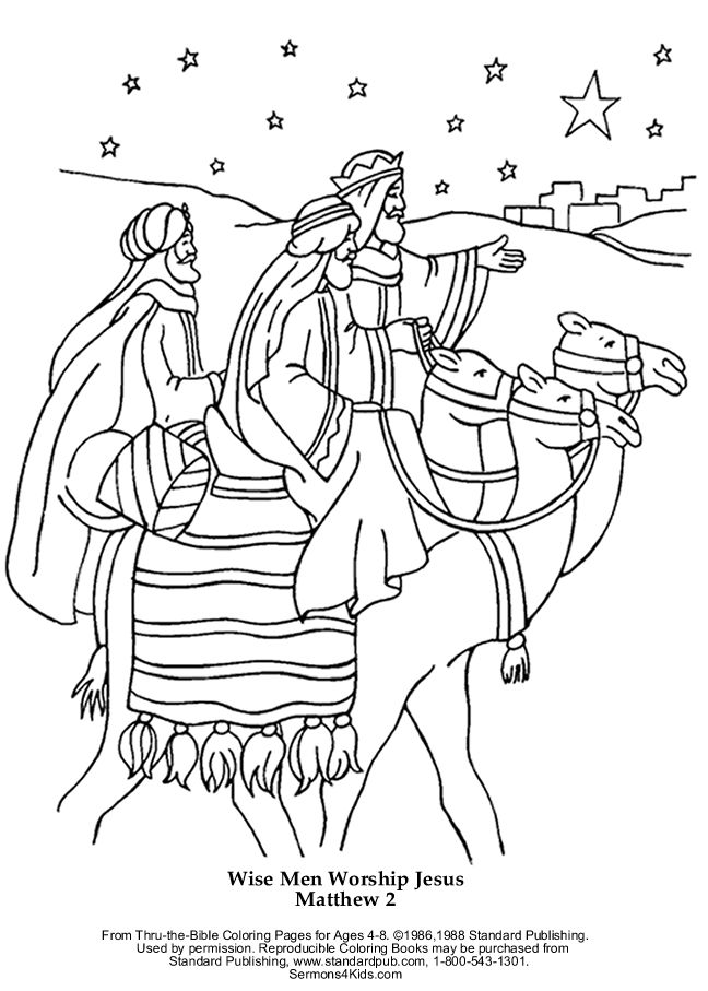 Wise Men Matthew Bible Coloring Pages