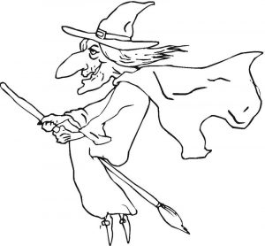 Witch coloring pages printable for kids 001