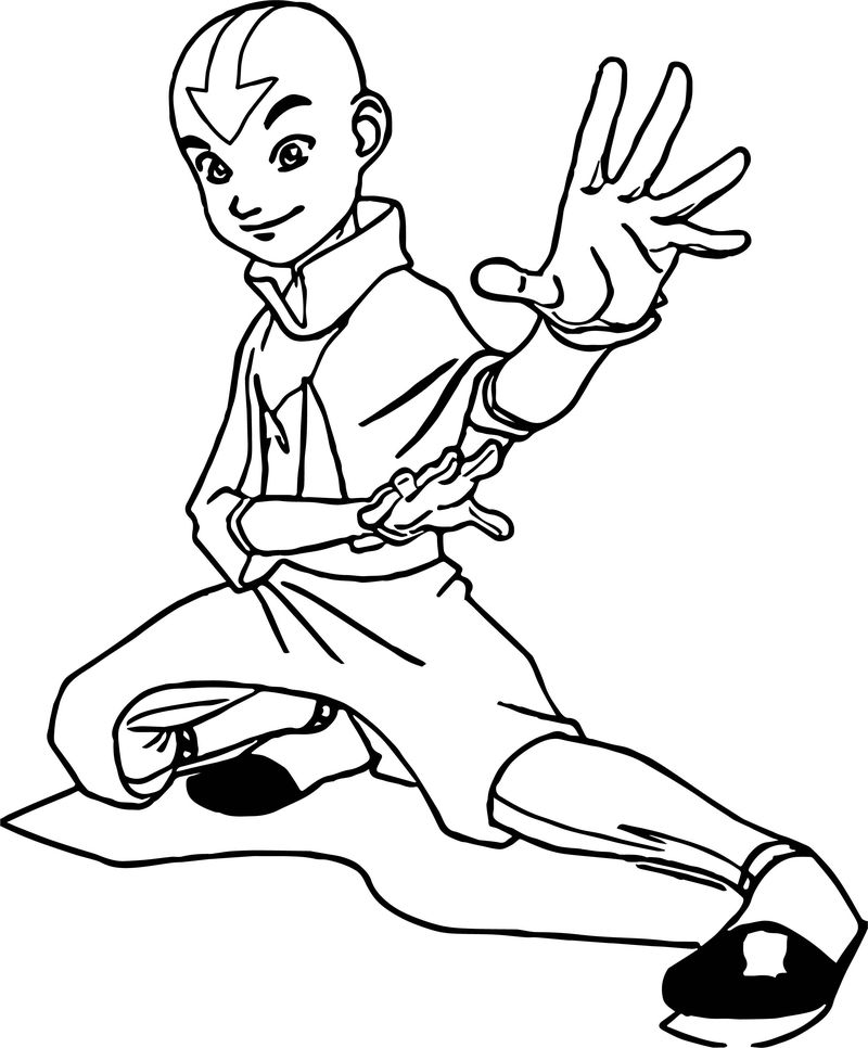 Witchlerfani Avatar Avatar Aang Coloring Page
