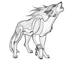 Wolf pack coloring pages