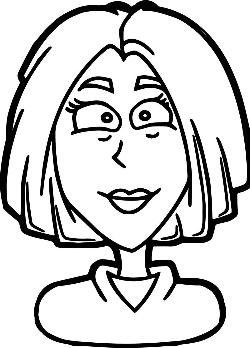 Woman Face Coloring Page