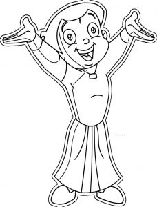 Wooden cut outs happy chhota bheem original coloring page
