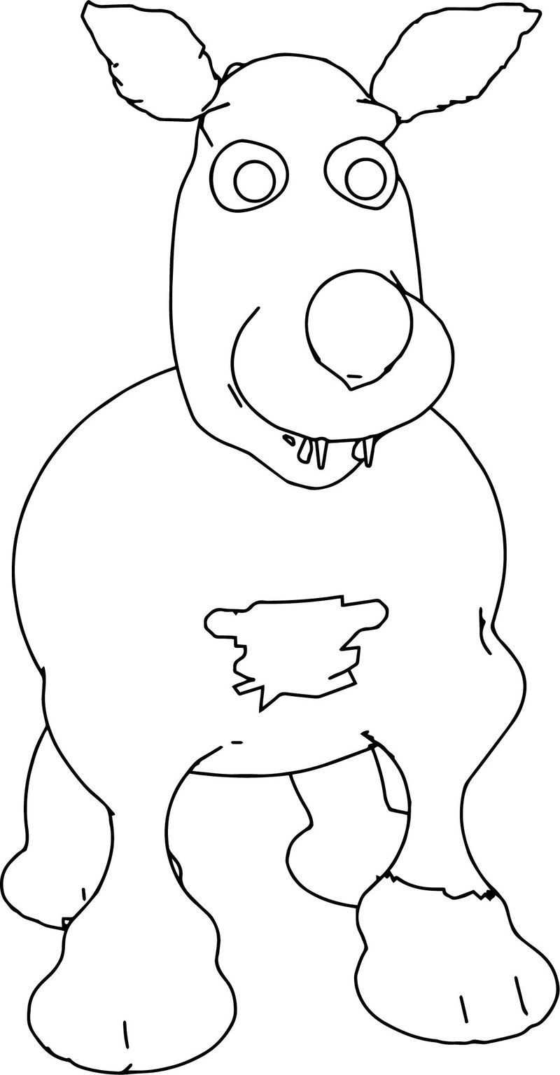 Woofie Dog Coloring Page
