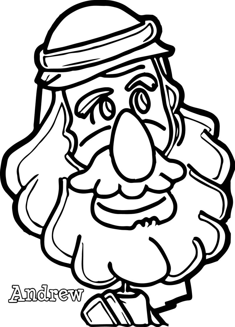 Word Andrew Coloring Page