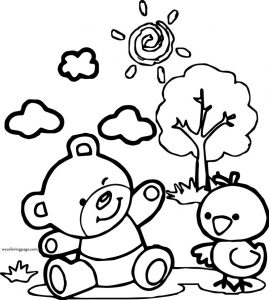 Word bear coloring page