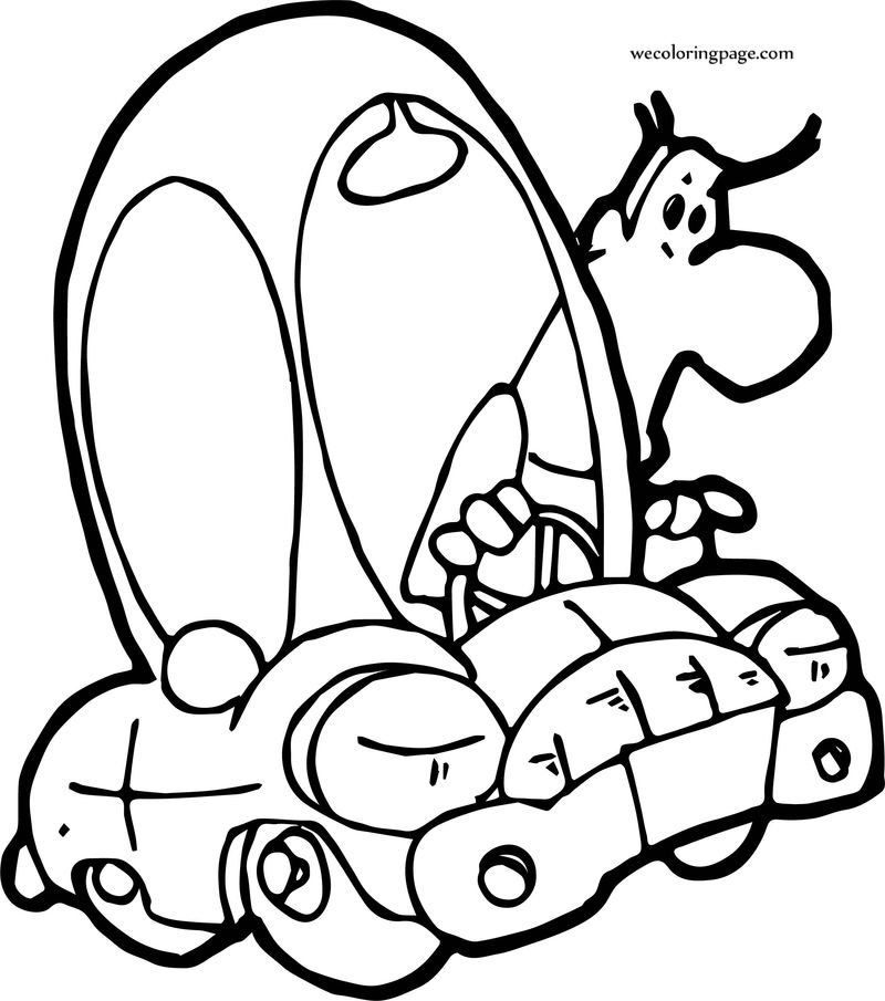 Word Car And Man Coloring Page