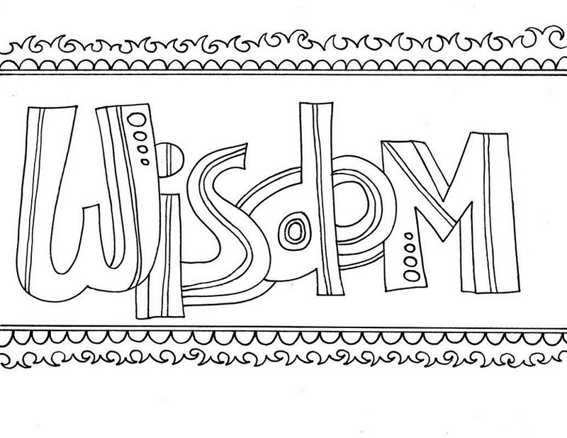 Word Of Wisdom Coloring Page Simple