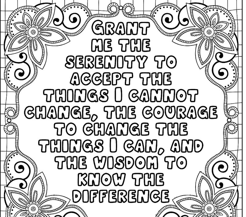 Word Of Wisdom Coloring Page Template